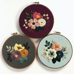 r/Embroidery - Same pattern and stitches, 3 different ways!r/Embroidery: A community for hand and machine embroiderers to exchange tips, techniques, resources, and ideas.Embroiderers do it in the hoop! Floral Embroidery Patterns, Embroidery Flowers Pattern, Hand Embroidery Stitches, Embroidery Hoop Art, Hand Embroidery Designs, Cross Stitch Embroidery, Embroidery On Clothes, Sewing Art, Florals