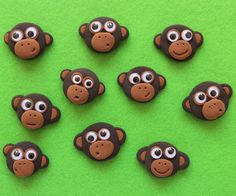 Modeling clay monkey faces from According to Matt