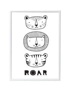 Poster Roar - A little lovely company - DE GELE FLAMINGO - 1