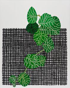 Jonas Wood (American, b. 1977), Grid Pot 3, 2014. Oil and acrylic on linen, 25 x 20 in.