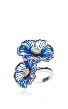 Two Flowers Ring by Gioia for Preorder on Moda Operandi