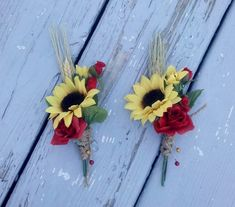 rustic sunflower wedding bouqets  | Fall Wedding flowers Mens accessories Sunflower boutonniere buttonhole ...