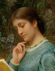 Girl Reading - Charles Edward Perugini - The Athenaeum Girl Reading, Reading Art, Reading Books, Charles Edward, Edward Robert Hughes, People Reading, Book People, Louis Aragon, Munier