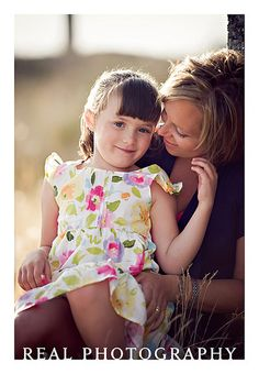 mother and daughter outdoor portrait in summer field by Traci Turchin, via Flickr