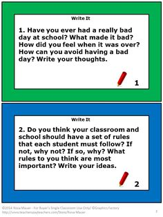 Free Journal prompts task cards will add to your classroom any time of year. Take a look at these free journal prompts. On each task card there is a journal prompt. Students may complete the writing prompts when assigned or when finishing other work early. These journal prompts would also work well as morning activities. Enjoy! Use these journal Prompt task cards with students of various ages and abilities.