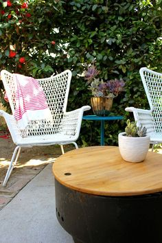 Ikea outdoor chair: I Love it. Vintage feel