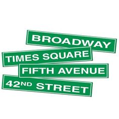 Big Discounts on NYC Street Sign Cutouts (12 each) - Hollywood themed Party Supplies and Party Decorations at Bulk Party Supplies