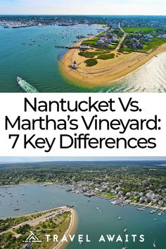 While both Nantucket and Martha's Vineyard inspire fierce loyalty, there are key differences between them to keep in mind when deciding which to visit. Vacation Places, Vacation Spots, Places To Travel, Travel Destinations, Places To Visit, Vacations, Greece Vacation, Vacation Ideas, New England States