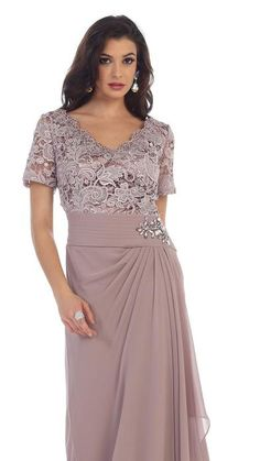 Long Mother of the Bride Dress 2018 - The Dress Outlet