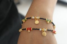 Black  Afghan Bead Friendship Ethnic Bracelet by MonroeJewelery, $14.60