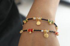 Black Afghan Bead Friendship Ethnic Bracelet