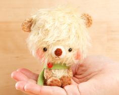Teddy bear plush doll in yellow   made to order  by knittingdreams, $34.00