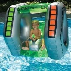 StarFighter Inflatable Ride On Squirter Pool Toy >>> Details can be found by clicking on the image.(It is Amazon affiliate link) #followbackteam