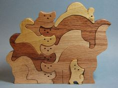 deer puzzles for scroll saw | Here are the cats, assembled into a puzzle.