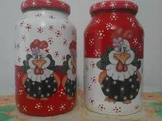 Painted Milk Cans, Painted Jars, Jar Crafts, Bottle Crafts, Diy And Crafts, Mason Jar Gifts, Mason Jar Diy, Bottle Painting, Bottle Art