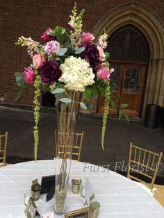 vintage jewel tone elegant wedding centerpiece #FurstEvents #daytonweddings