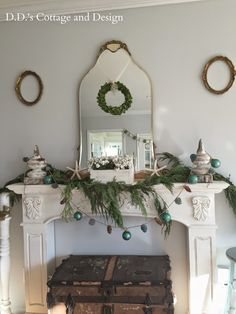 D.D.'s Cottage- Christmas Mantel-Treasure Hunt Thursday- From My Front Porch To Yours