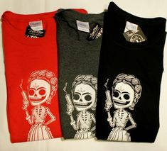 Frida Kahlo Day of the Dead Sugar Skull T-Shirt $14.99