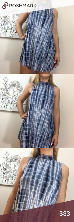 "‼️BUY 2 GET 1‼️🆕 'Live & Dye' Choker Dress New with tags. 'Live & Dye' dress by Audrey 3+1. Size Medium in Blue Dyed design / Choker / Sleeveless Length: 32"" Underarm to underarm: 17.5"" before stretch  96% Rayon, 4% Spandex Audrey 3+1 Dresses"
