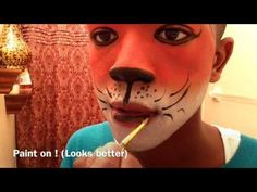 Fox Face Paint Tutorial - YouTube