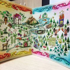 Map Enchanted Forest by Juliana Queiroz