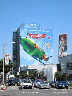 Disney Planes movie billboards...