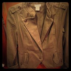 Jacket Jr.'s Army green waist length jacket Jackets & Coats Blazers