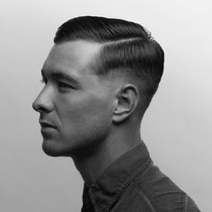 Our fashion experts picked the best undercut fade hairstyles for every hair type. We show the undercut haircut options that are trendy, cool and unique. Military Fade Haircut, Military Haircuts Men, Army Haircut, 1950s Mens Hairstyles, Cool Hairstyles, Vintage Haircuts, Hairstyles Haircuts, Trendy Haircuts, Haircuts For Men