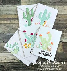stampin up flowering desert notecards quick easy masculine gift cards memories and Cactus, Thing 1, Beautiful Handmade Cards, Graduation Cards, Workshop, Cards For Friends, Stamping Up, Flower Cards, Stampin Up Cards