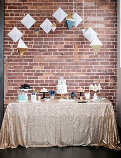geometric dessert table