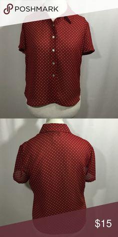 Jones Wear polka dot button down blouse Good condition. 100% polyester. Machine washable Jones New York Tops Blouses