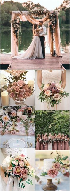 Vintage Wedding Beautiful Dusty Rose Wedding Ideas That Will Take Your Breath Away - From wedding dresses and ceremony decor to bridesmaid gowns and wedding bouquets here are some Dusty Rose Wedding Ideas That Will Take Your Breath Away! Wedding Ceremony Ideas, Wedding Themes, Fall Wedding, Our Wedding, Dream Wedding, Trendy Wedding, Garden Wedding, Wedding Vintage, Ceremony Arch