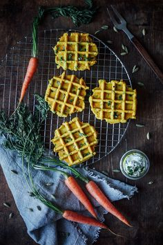 our food stories // carrot peas waffles