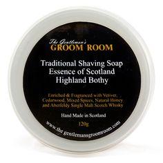 The Gentleman's Groom Room Traditional Shaving Soap Essence of Scotland, Highland Bothy