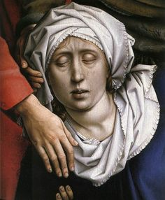 1399 – 1464 Rogier van der Weyden, Deposition c. 1435, Oil on oak panel, Museo del Prado, Madrid, detail