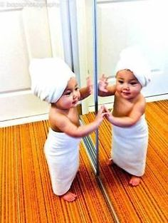 Adorable mirror likeness!