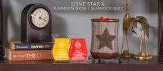 Coming June 1st ~ Lone Star warmer & Summer Sunrise and Summer Sunset Fragrances www.lynnebiniker.scentsy.us