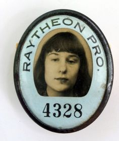 Photo ID Badge - The Raytheon Company, founded 1928 in Cambridge, MA