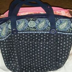 Vera Bradley purse In great shape different color blues lighter inside lots of pockets and space zip scorer in top moving need gone ASAP priced to sell Vera Bradley Bags
