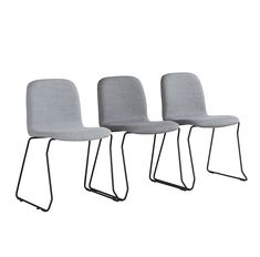 Stackable and connectable chair Quin, an elegant and comfortable chair. Available in different colors and fabrics.