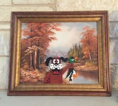 This oil painting was the perfect format for Duck Hunt. :)