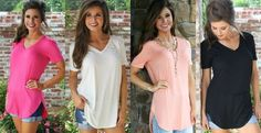 Perfect Spring V Neck Tunic-I need more shirts like this for summer with short sleeves but modest. I like the longer length too.