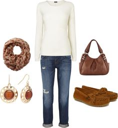 """""""cream and brown"""" by dianacnyc on Polyvore"""