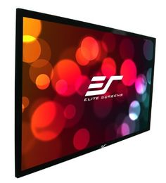 Elite Screens ER200WH1 Sable Fixed Frame Projection Screen (200 inch 16:9 AR) by Elite. $1232.00. The Sable Frame from Elite Screens is an entry-level fixed frame screen for today's home cinema 720p and 1080p projectors. It's easy to assemble and installs in minutes. The black velvet-surfaced 2.36-Inch aluminum frame enhances your wall's overall appearance and absorbs projector light overshoot for crisper images. Choose from three available screen materials. The highly ver...