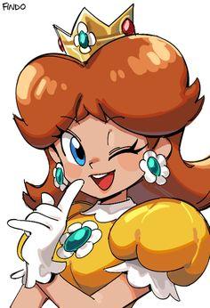 Super Mario Brothers, New Super Mario Bros, Super Mario Art, Mario Princess Daisy, Nintendo Princess, Princess Peach, Luigi And Daisy, Mario And Luigi, Donkey Kong