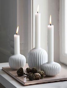 Hammershøi Kerzenhalter, Weiß von Kähler Design