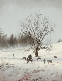Fantasy Art Watch — Dinner in the Open Air by Jakub Rozalski Dark Fantasy Art, Fantasy Kunst, Dark Art, Dungeons And Dragons, Werewolf Art, Werewolf Drawings, Art Watch, World Of Darkness, Time Painting