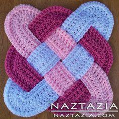 Crochet Celtic Weaved Hotpad Potholder