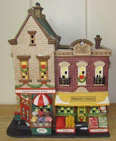 Dept 56 Christmas in the City Village Building JOHNSON'S GROCERY & DELI ~ MIB