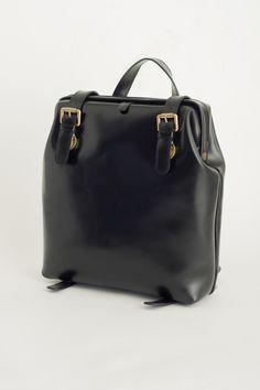 Leather Back Pack, Black